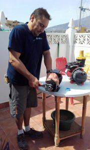 Instalación electrobomba de agua. Fontanería